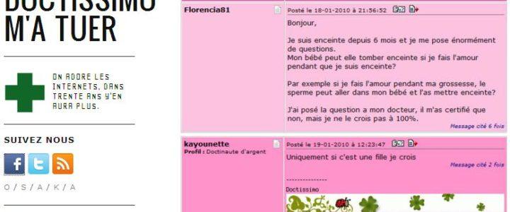 recueil des messages les plus drôles des forums santé