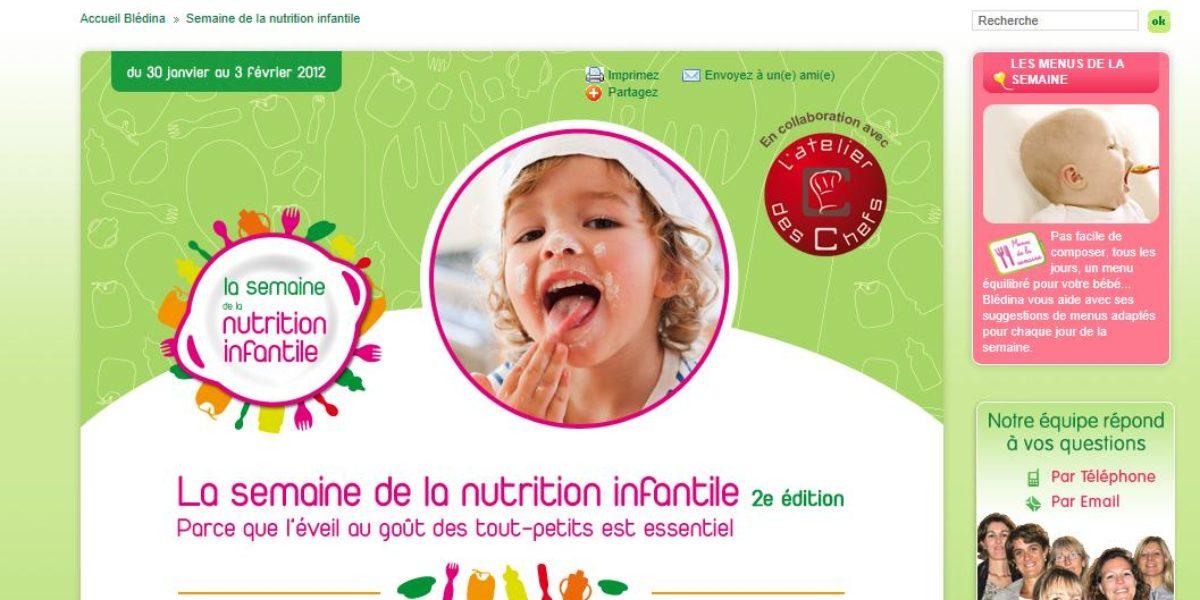 La semaine de la nutrition infantile de Blédina