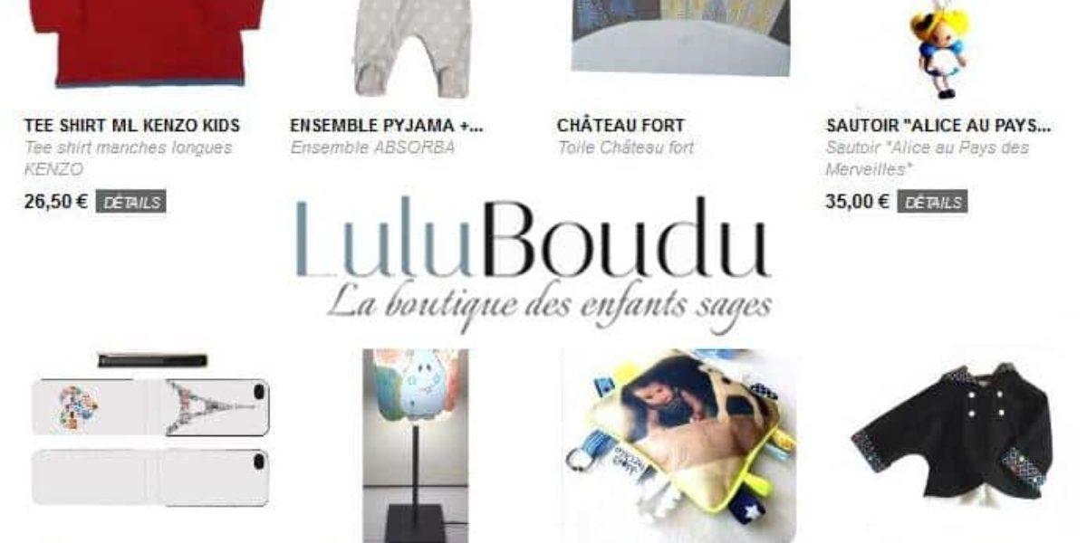 vêtements pour enfants à petits prix avec LuluBoudu
