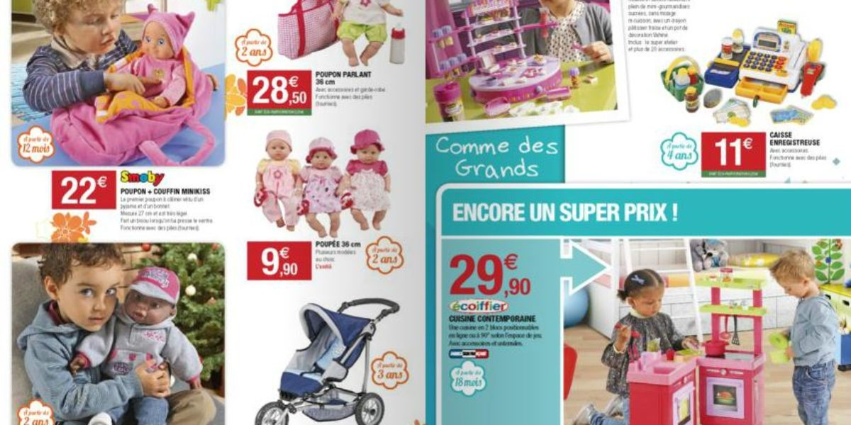 Jouets de Noël, catalogue super u