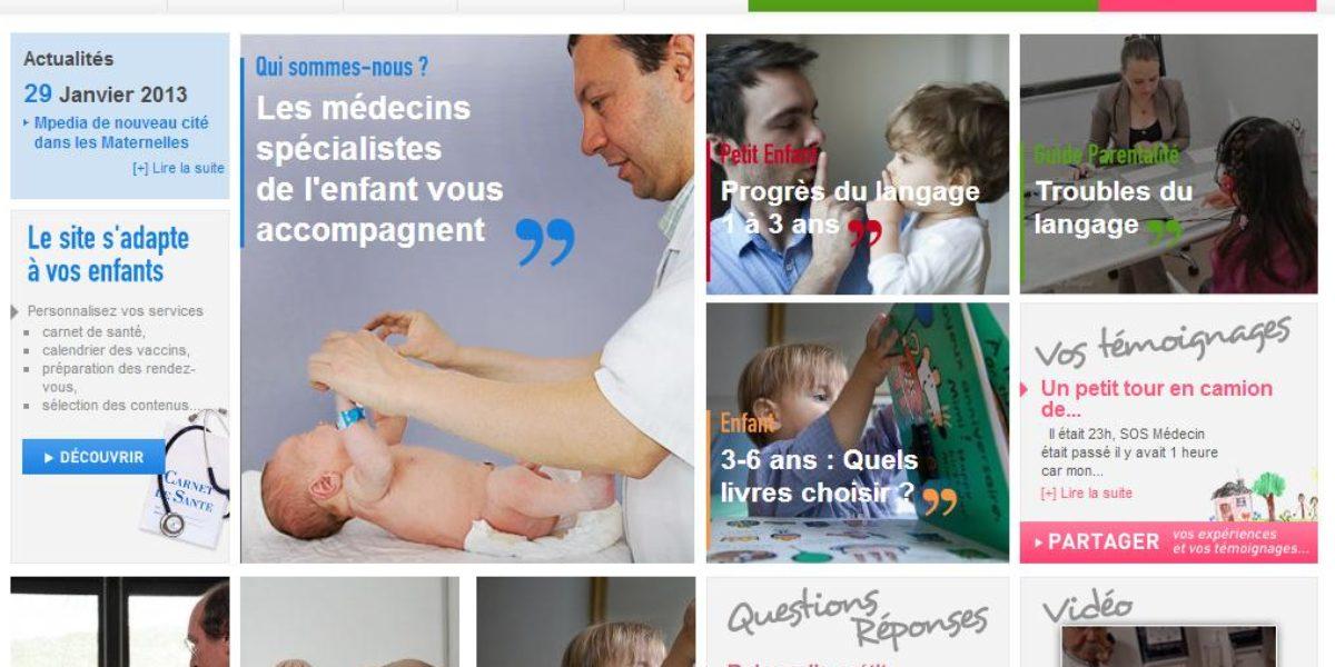 Mpedia, site ressources pour les parents par les médecins
