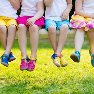 sélection de chaussures pour enfant