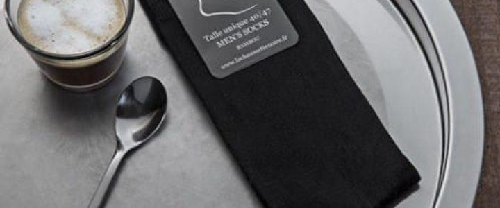 chaussettes noires pour hommes