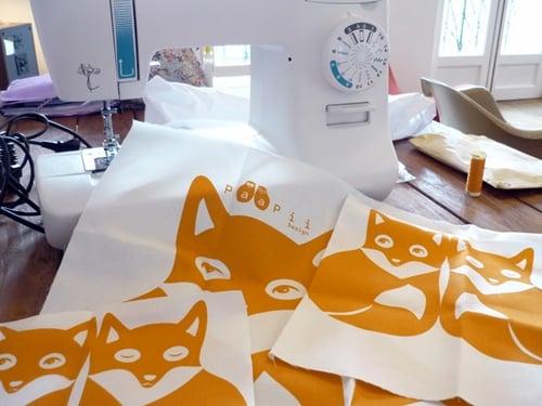 Paapii Design, doudou DIY Famille de renards