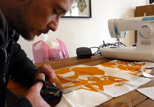 doudou DIY Paapii Design, la découpe du patron