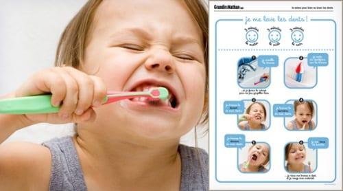 Grandir avec Nathan, apprendre à se laver les dents