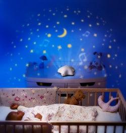 veilleuse bébé projecteur d'étoiles Pabobo