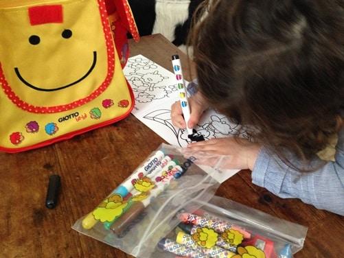 Giotto bébé : sac à dos des enfants créatifs