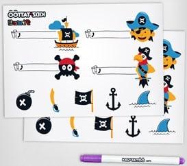 kidz'Tattoo : tatouages enfants pirates