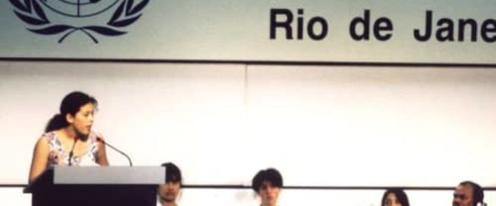 Severn Cullis Suzuki au sommet de la terre à Rio