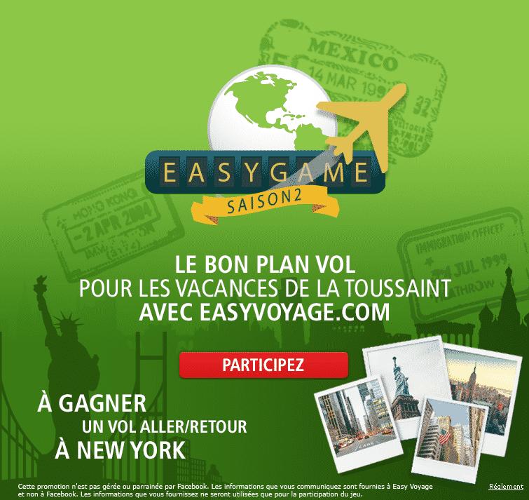easyvoyage : gagnez un vol pour New-York
