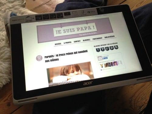 acer aspire switch 10 - en mode tablette tactile
