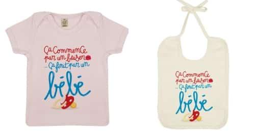 Vêtements enfants humour : collection capsule Je suis papa x Bébé TSHIRT