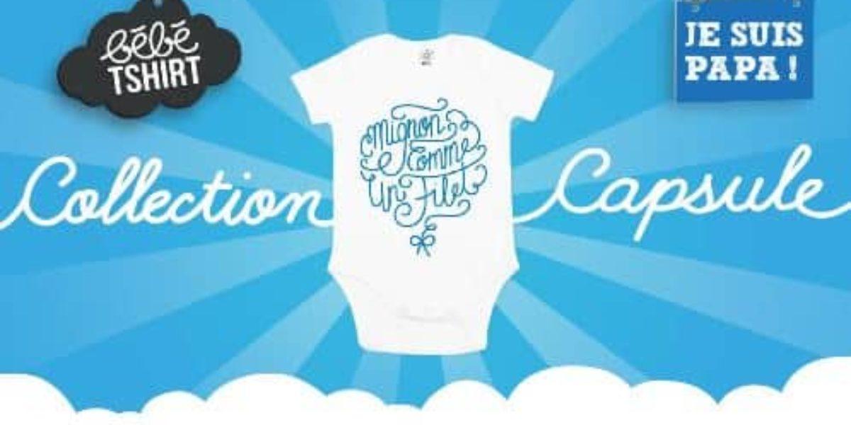 Collection capsule de vêtements pour bébés Je suis papa x Bébé TSHIRT