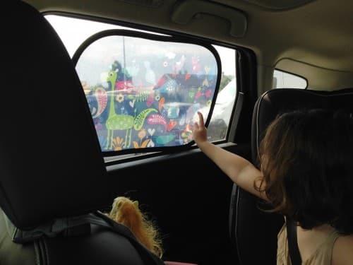 accessoires de voiture : pare soleil pour enfant