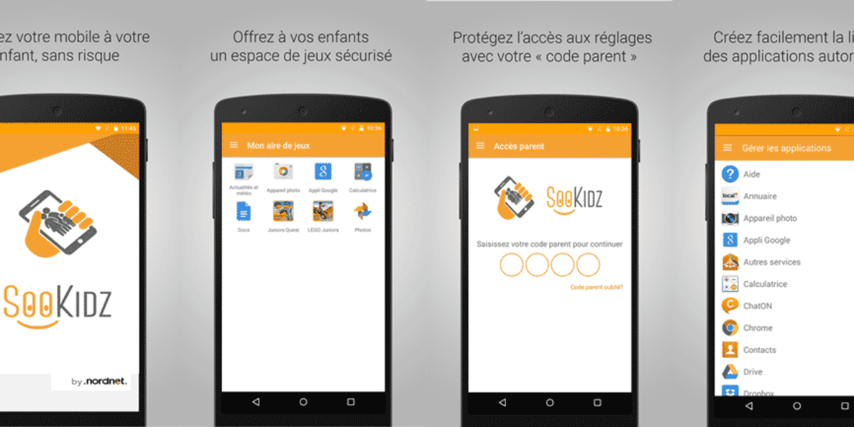 sookidz, filtrage d'applications pour enfants