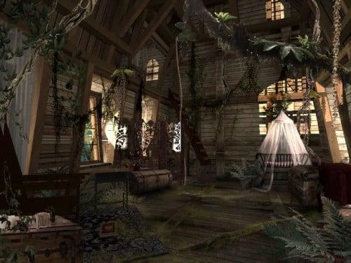 intérieur de la maison de tarzan