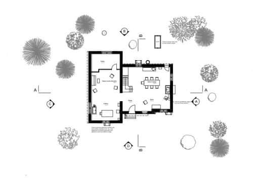 plan de la maison de blanche neige