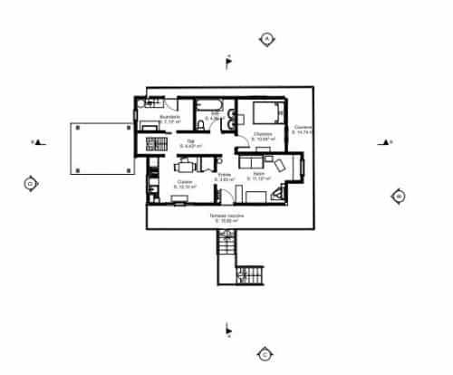 Plan de la maison de Lilo et Stitch