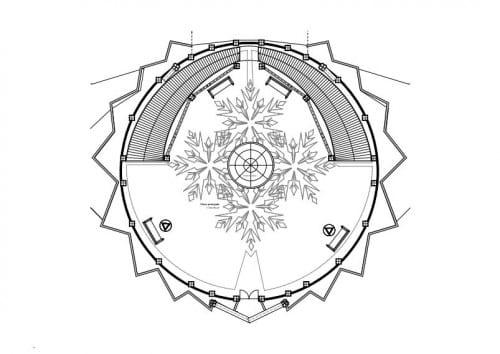 plan, maison de la reine des neiges