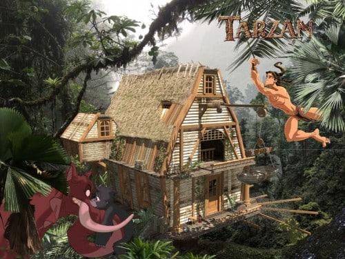 maison disney de tarzan