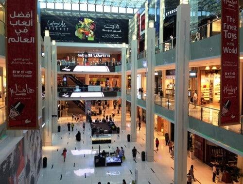 dubai mall avec des attractions pour enfants