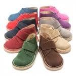 chaussures d'hiver pour enfants : chaussures montantes safari avec scratch