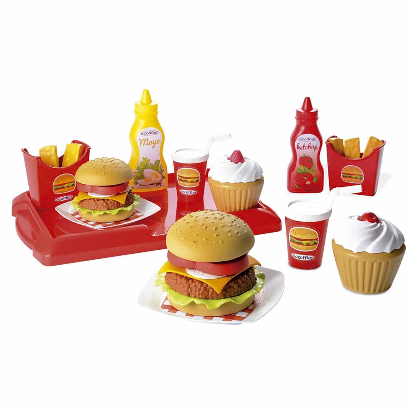 accessoires cuisine pour enfants : set hamburger ecoiffier