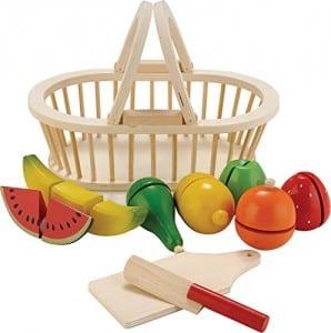 accessoires cuisine pour enfants : panier de fruits à découper new classic toys