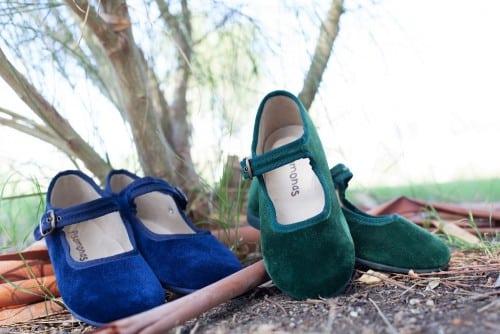 chaussures enfants velours