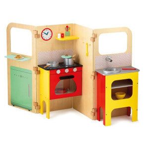 cuisine en bois pour enfant toute équipée