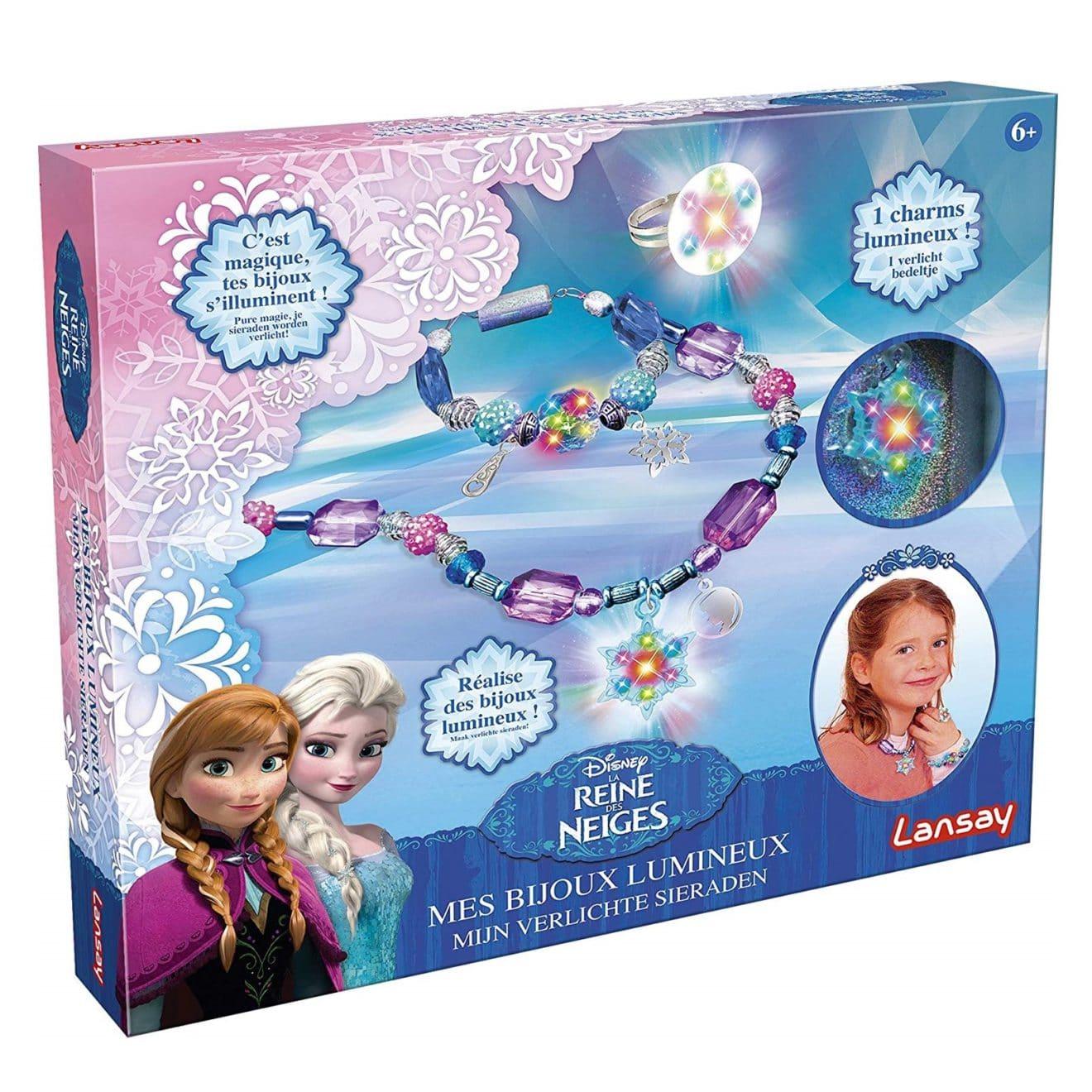 kit de loisirs créatifs pour enfants bijoux lumineux reine des neiges