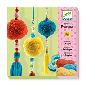 kit loisirs créatifs pour enfants : pompons et breloques