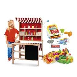 grande marchande Léomark en bois pour enfant