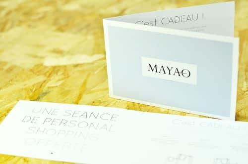 Mayao : carte cadeau personal shopping