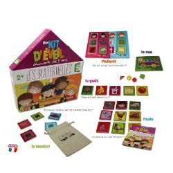 Mon kit découverte des 5 sens Les Maternelles premier jeu éveil pour enfant