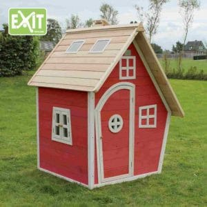 Cabane en bois pour enfants Exit Fantasia rouge