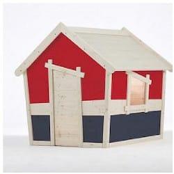 Maisonnette en bois pour enfant Aldebaran XL bichrome
