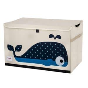 coffre à jouets pour enfants baleine 3 sprouts