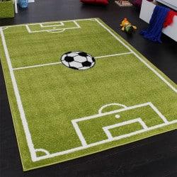 Tapis enfant terrain de football