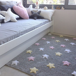 tapis enfant tricolor stars