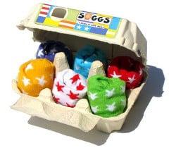 Boîte à œufs chaussettes bébé Soggs