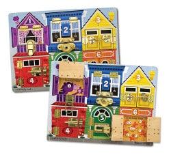 Jeux Montessori : planche à verrous