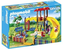 Univers Playmobil city life - square pour enfants