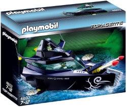 Playmobil top agent - vaisseau d'attaque robo gang