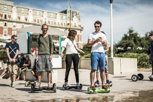 la Team Hoverboard Newshoot à Biarritz