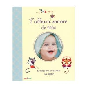 cadeau de naissance - album sonore de bébé