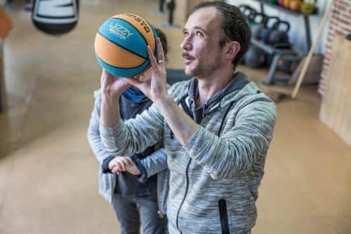 découverte du basket avec Olivier Barbin, blog Je suis papa