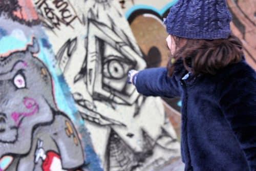 Street art sur Donaukanal à Vienne - canal du danube