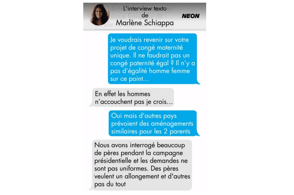 Interview de Marlène Schiappa sur l'allongement du congé paternité